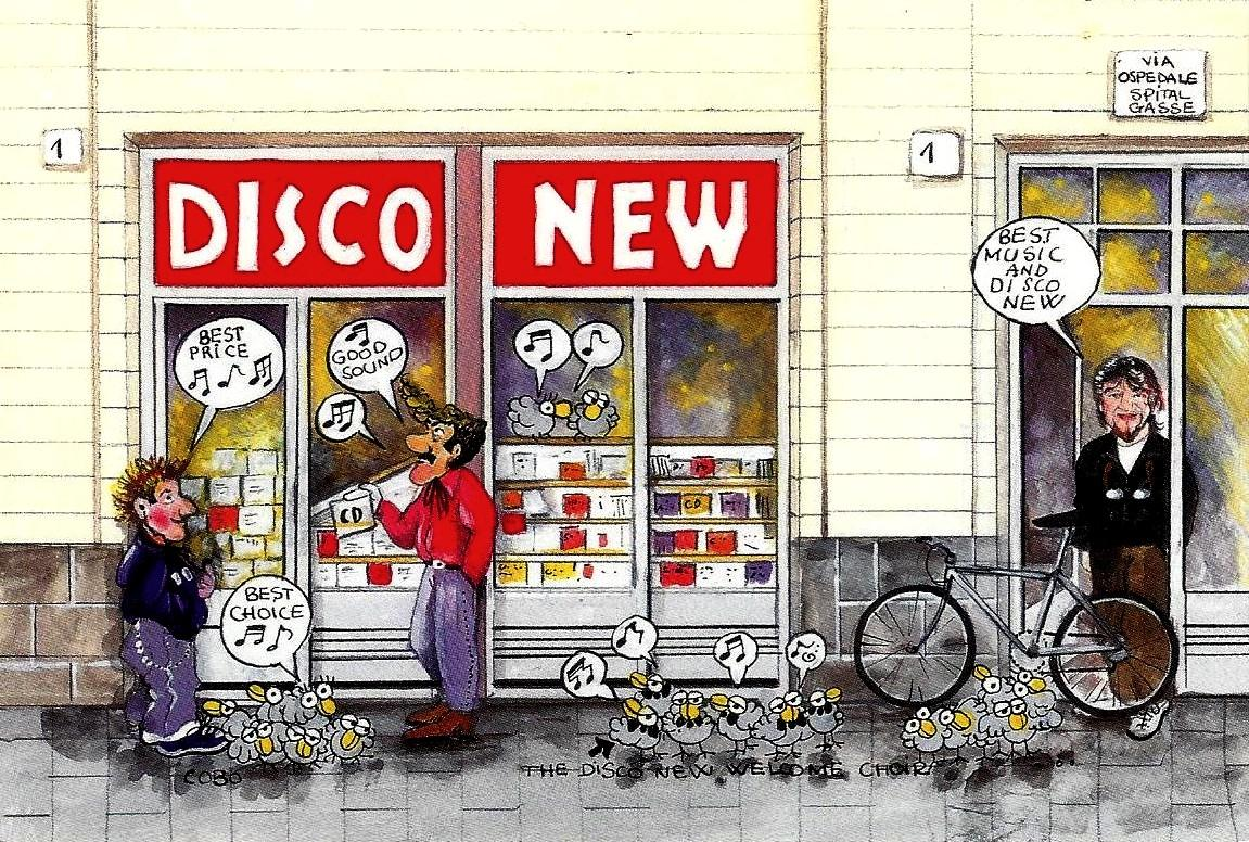 disco new postkarte